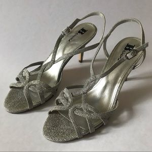 Browns silver sparkly sandals